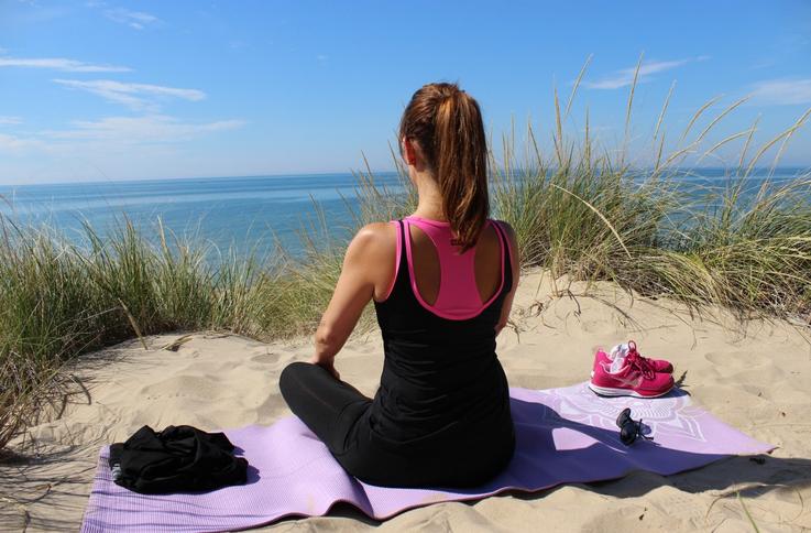 Mit der Reise Yogamatte unterwegs